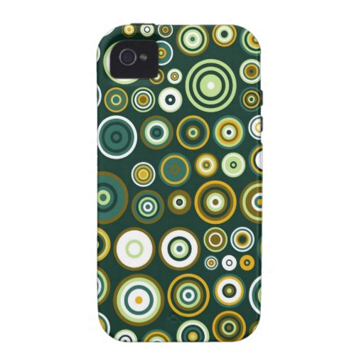 Vintage Green and White Fifties Abstract Art Case For The iPhone 4