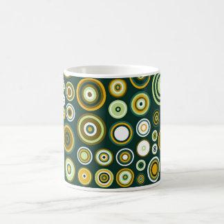 Vintage Green and White Fifties Abstract Art Coffee Mug