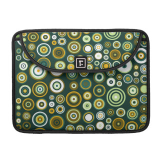 Vintage Green and White Fifties Abstract Art Sleeve For MacBook Pro