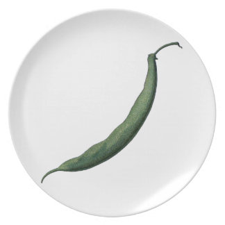 Vintage Green Bean Dinner Plate