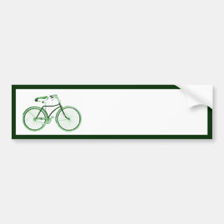 Vintage Green Bicycle Car Bumper Sticker