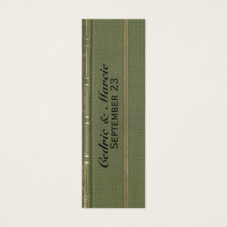Vintage Green Book Place Card and Bookmark