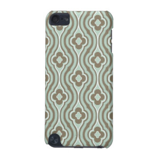 Vintage  Green Brown Floral Pattern iPod Touch (5th Generation) Cases