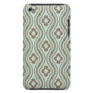 Vintage  Green Brown Floral Pattern Case-Mate iPod Touch Case