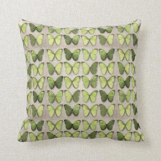 Vintage Green Butterflies Pillows