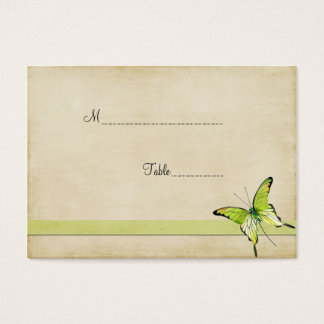 Vintage Green Butterfly Table Place Card