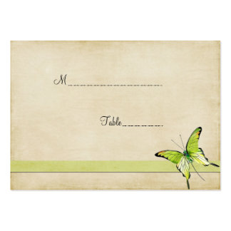 Vintage Green Butterfly Table Place Card Business Card