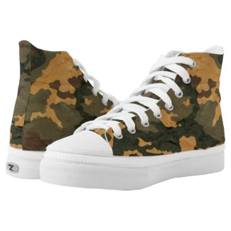 Vintage green Camouflage... High-Top Sneakers