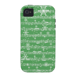Vintage Green Christmas Musical Sheet iPhone 4/4S Covers