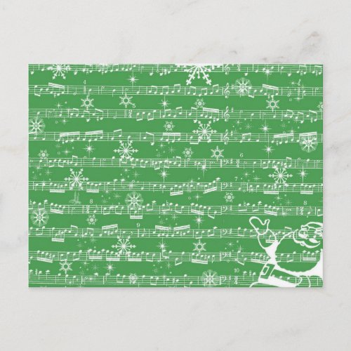 Vintage Green Christmas Musical Sheet