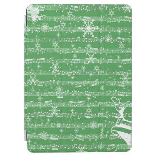 Vintage Green Christmas Musical Sheet iPad Air Cover