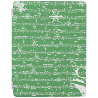 Vintage Green Christmas Musical Sheet iPad Cover