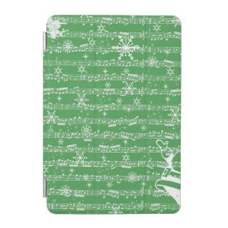 Vintage Green Christmas Musical Sheet iPad Mini Cover