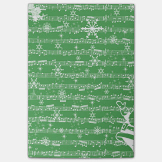 Vintage Green Christmas Musical Sheet Post-it Notes