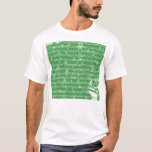 Vintage Green Christmas Musical Sheet T-Shirt
