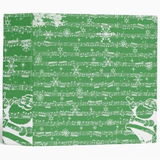 Vintage Green Christmas Musical Sheet Vinyl Binder