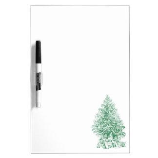 Vintage Green Christmas Tree Dry-Erase Board
