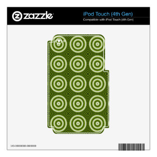 Vintage Green Circles Decal For iPod Touch 4G