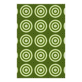 Vintage Green Circles Stationery