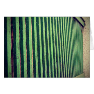 Vintage Green Fence Card