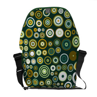 Vintage Green Fifties Abstract Art Courier Bag