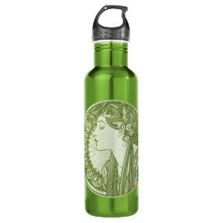 Vintage Green Fine Art Stainless Steel Water Bottle