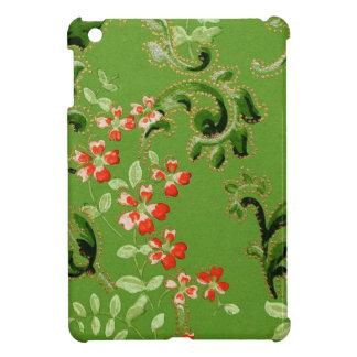 Vintage Green Floral Design iPad Mini Cover