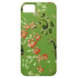 Vintage Green Floral Design iPhone SE/5/5s Case