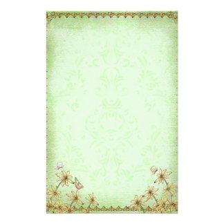 Vintage Green Floral Wedding Stationery Design