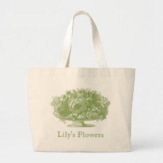 Vintage Green Flower Arrangement Bags