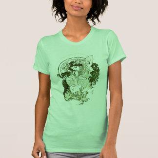 Vintage green goddess tee shirt