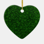 Vintage Green Heart Ornament