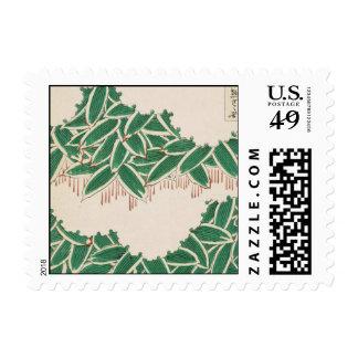 Vintage Green Jungle Deco Art Stamps