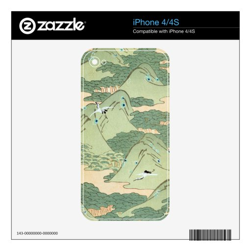 Vintage Green Landscape Decal For The iPhone 4S
