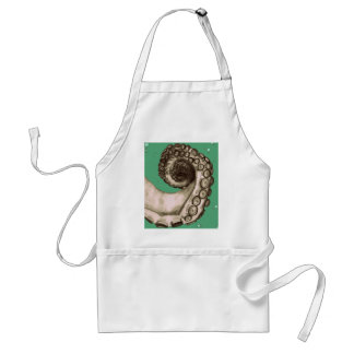 Vintage Green Nautical Octopus Tentacle Aprons