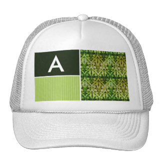 Vintage Green Pattern Trucker Hats