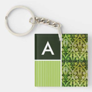 Vintage Green Pattern Keychain