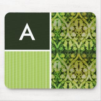 Vintage Green Pattern Mousepads
