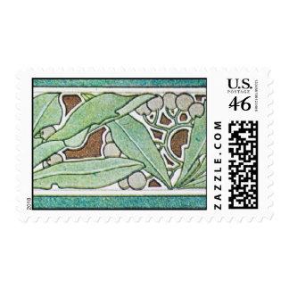 Vintage Green Postage Stamp