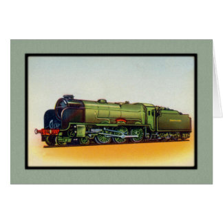 Vintage Green Railroad Engine Cards