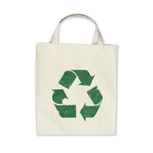 Vintage Green Recycle Sign Bag