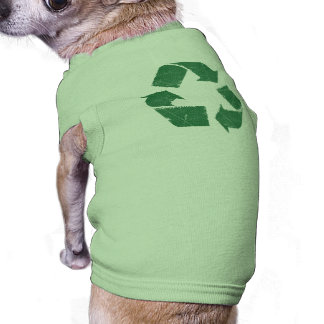 Vintage Green Recycle Sign Pet T-shirt