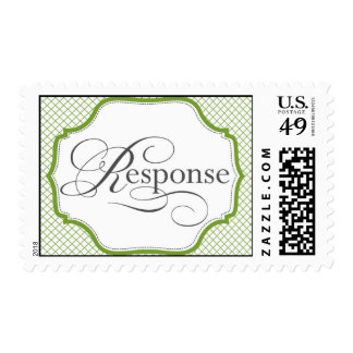 Vintage Green Response RSVP stamp