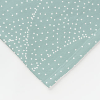 Vintage Green Retro Geometric Dots Abstract Wave Fleece Blanket