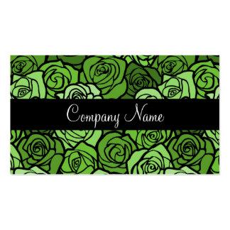Vintage green roses Business Card