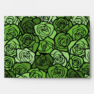Vintage green roses Envelope