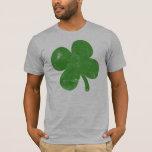 Vintage Green Shamrock Guys T-Shirt