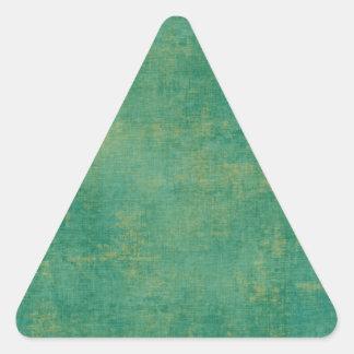 Vintage Green Triangle Sticker