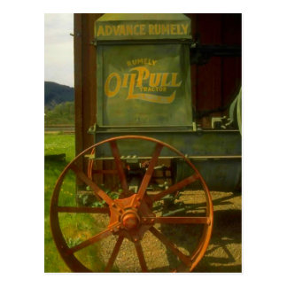 VINTAGE GREEN TRACTOR ANNOUNCE SHOW PULL POSTCARD