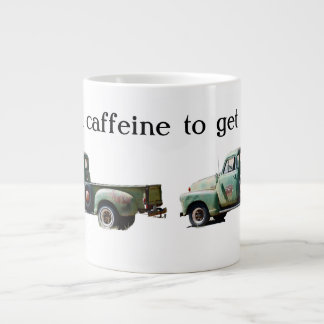 Vintage Green Truck Caffeine Fuel Large Coffee Mug